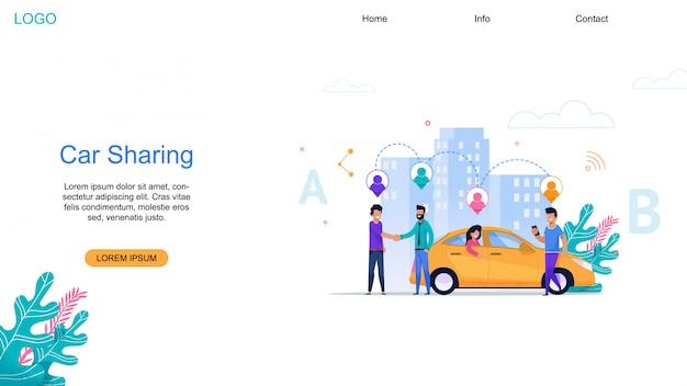 Página de destino de compartilhamento de carro