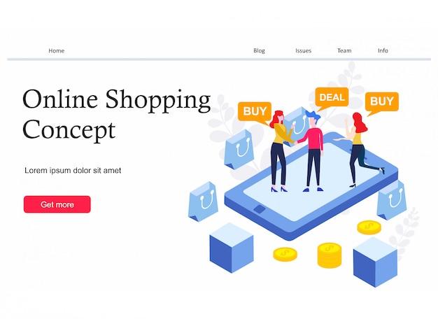 Página de destino de compras online