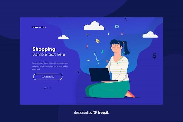 Página de destino de compras