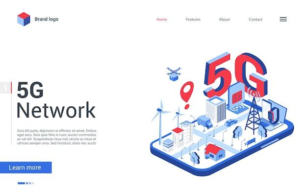 Página de destino de conceito moderno, desenho do site