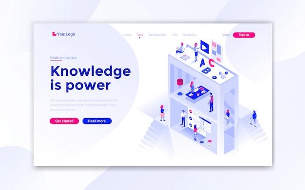 Página de destino de conhecimento é poder