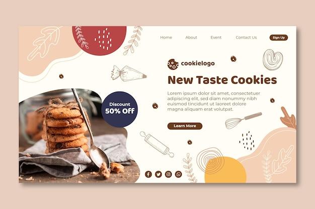Página de destino de cookies