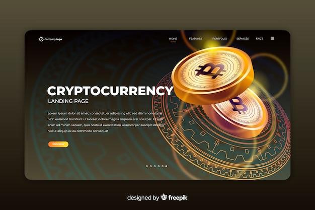 Página de destino de criptografia