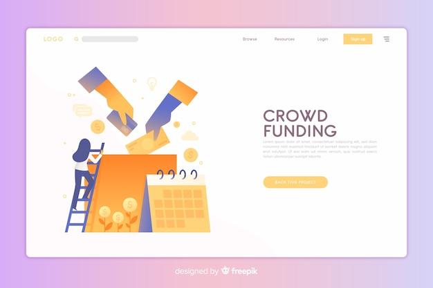 Página de destino de crowdfunding