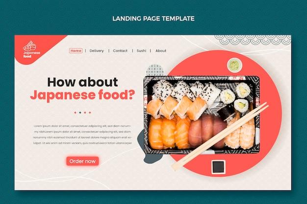 Página de destino de design plano
