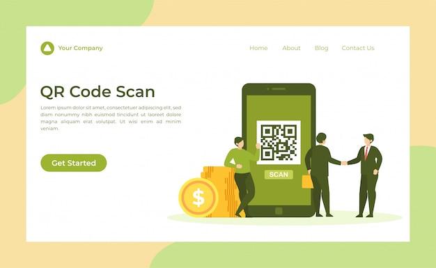 Página de destino de digitalização de código qr