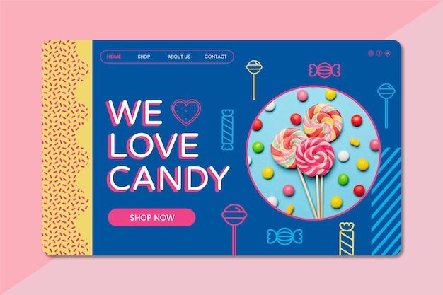 Página de destino de doces deliciosos