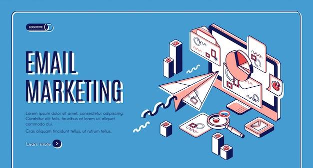Página de destino de email marketing, serviços de spammer