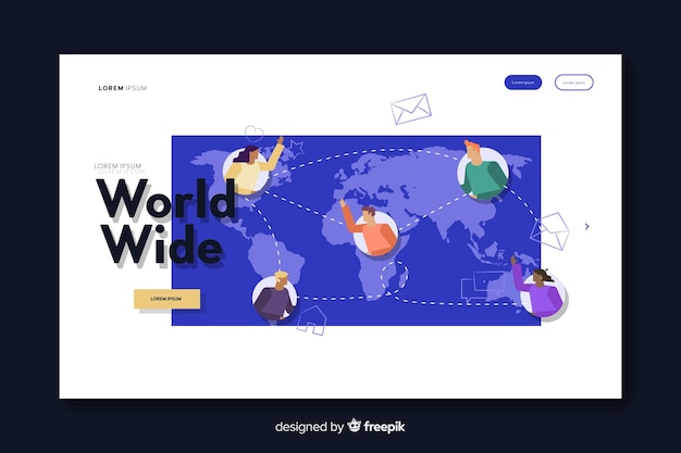 Página de destino de entrega mundial