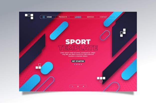 Página de destino de esporte de estilo gradiente