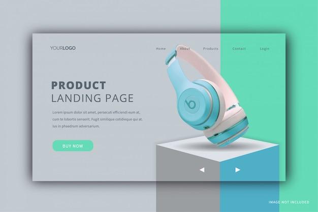 Página de destino de exibição do produto