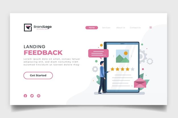 Página de destino de feedback simples