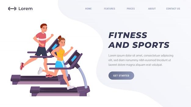 Página de destino de fitness