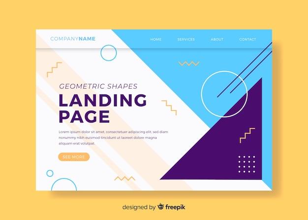 Página de destino de formas geométricas