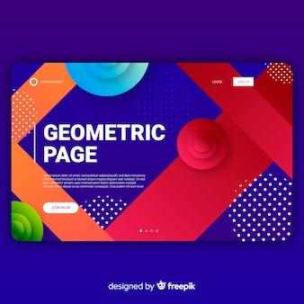 Página de destino de formas gradientes geométricas
