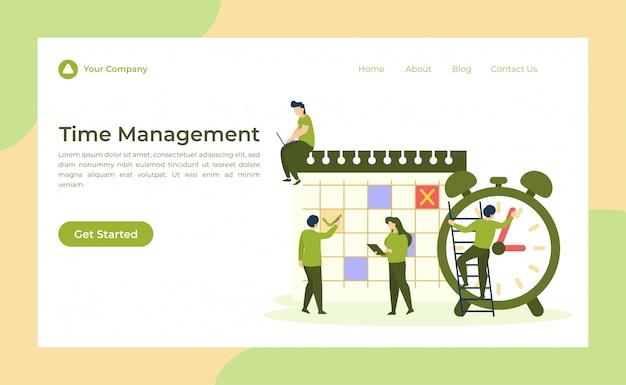 Página de destino de gerenciamento de tempo