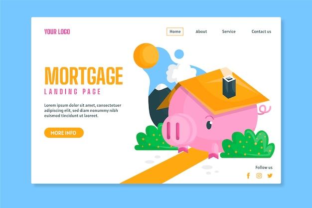 Página de destino de hipoteca