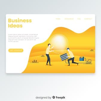 Página de destino de ideias de negócios