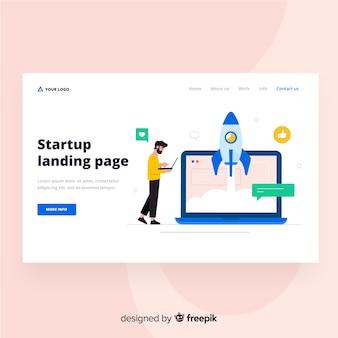 Página de destino de inicialização