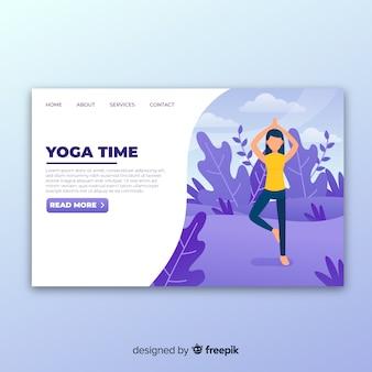 Página de destino de ioga