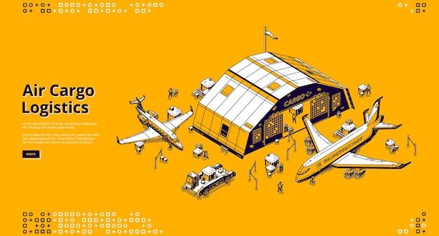 Página de destino de logística de carga aérea