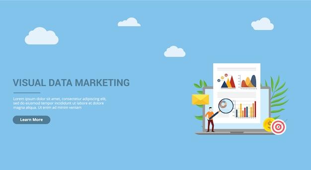 Página de destino de marketing de dados visuais