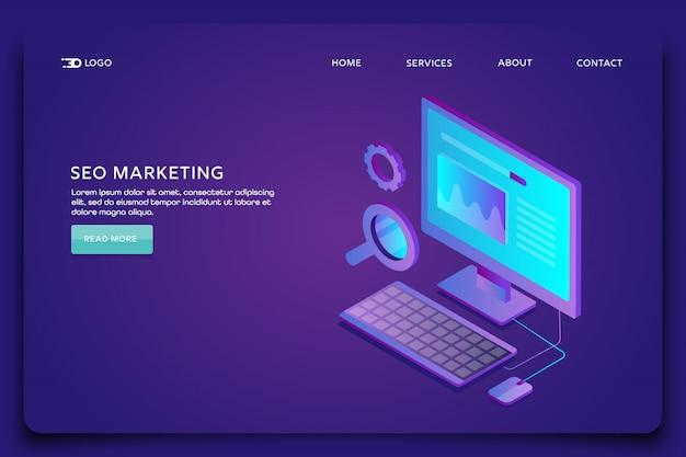 Página de destino de marketing de seo