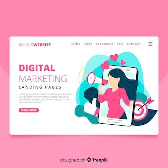 Página de destino de marketing digital