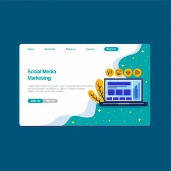 Página de destino de mídia social