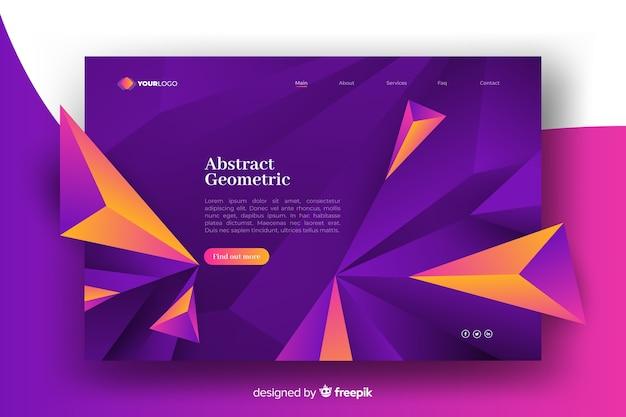 Página de destino de modelos geométricos 3d
