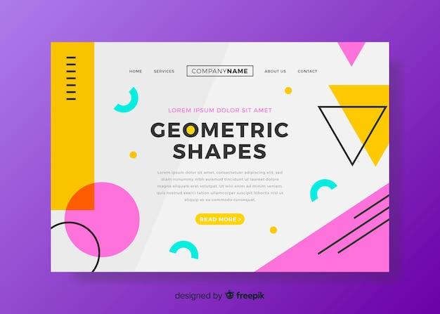 Página de destino de modelos geométricos