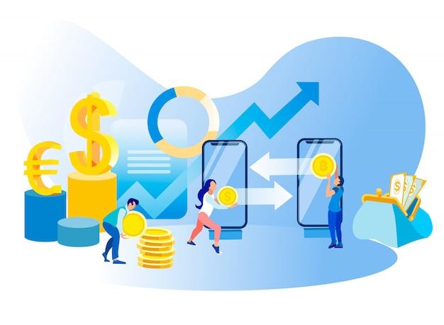 Página de destino de negociação de ações da análise financeira