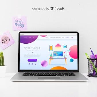 Página de destino de negócios colorida