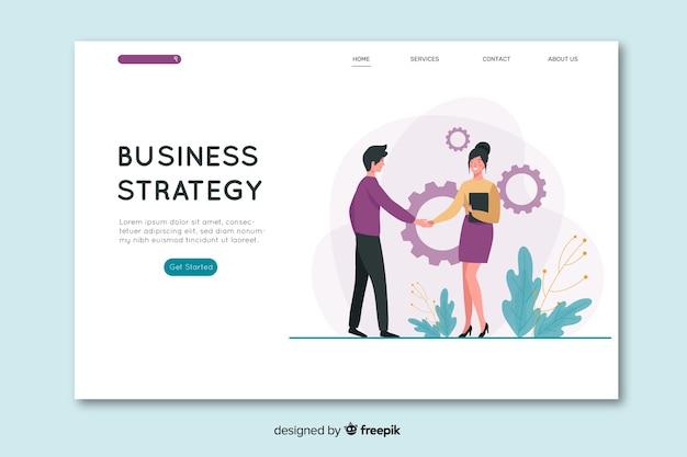 Página de destino de negócios de design plano