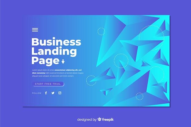 Página de destino de negócios