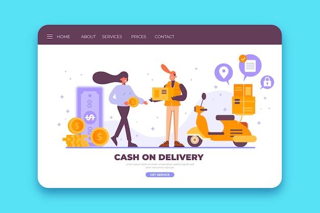 Página de destino de pagamento na entrega