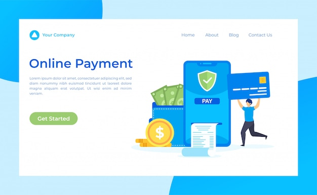 Página de destino de pagamento on-line
