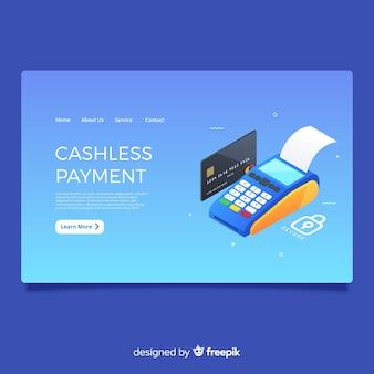 Página de destino de pagamento sem dinheiro