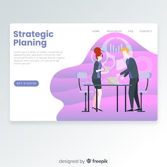 Página de destino de planejamento estratégico