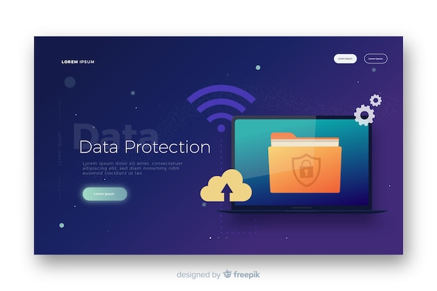 Página de destino de proteção de dados