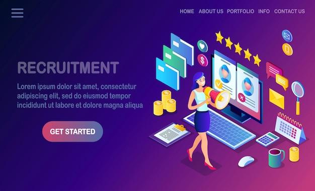 Página de destino de recrutamento