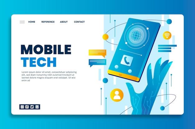 Página de destino de seo de tecnologia móvel
