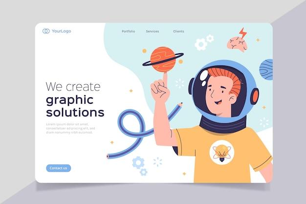 Página de destino de soluções criativas