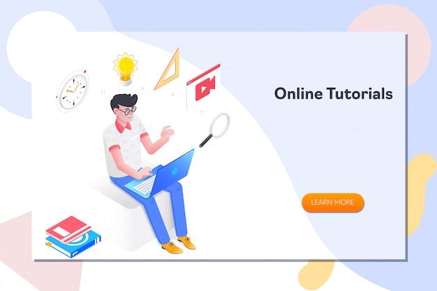 Página de destino de tutoriais on-line