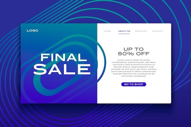 Página de destino de venda abstrata