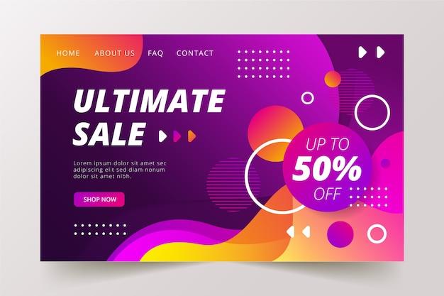Página de destino de venda final abstrata