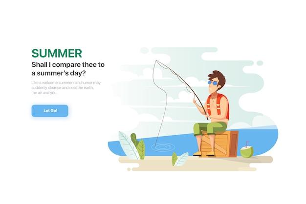Página de destino de verão