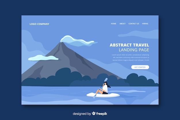Página de destino de viagem abstrata