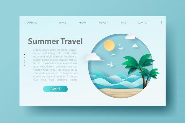 Página de destino de viagens e turismo