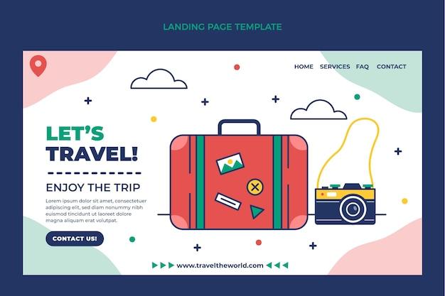 Página de destino de viagens simples